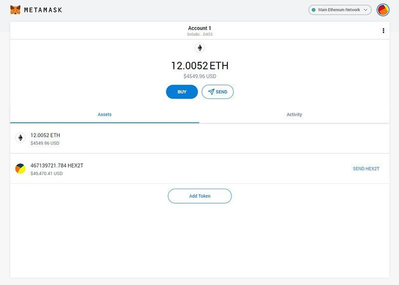 MetaMask wallet example