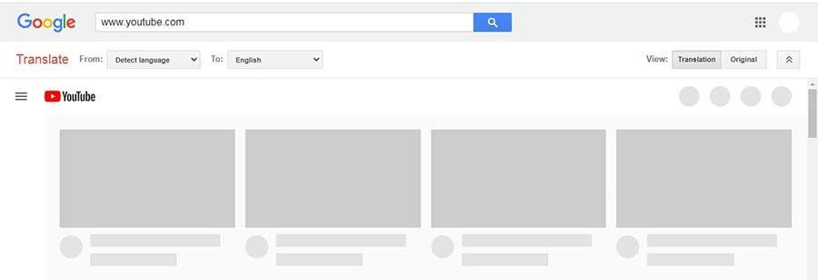 Google Translate on YouTube
