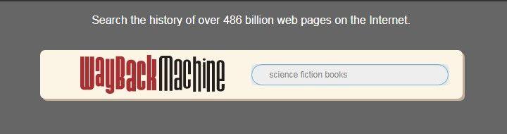 The Wayback Machine search bar