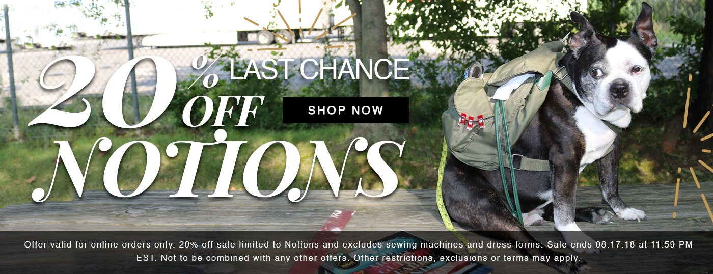 We are having a Back to School Notions Sale! Shop Now