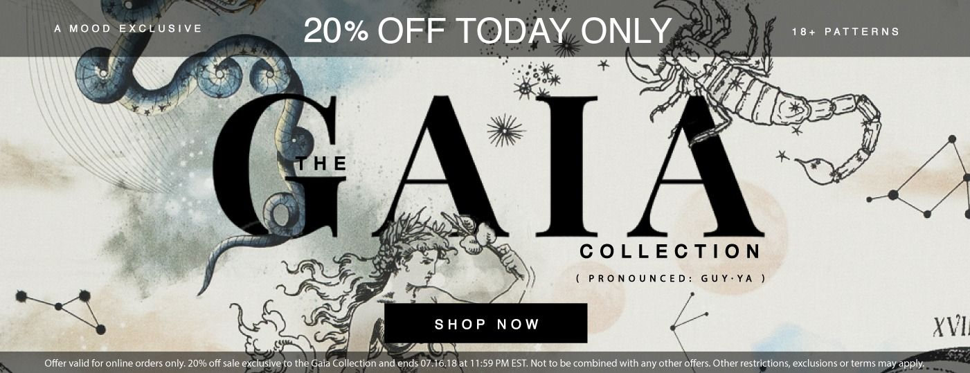Enjoy 20% off our Mood Exclusive Gaia Collection Today!
