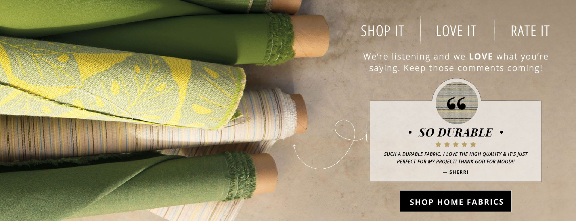 Shop Our Ever Expanding Home Fabrics Section