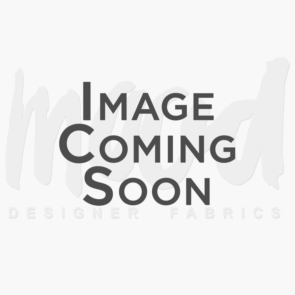 British Ivory Ribbed Jacquard with Satin-Faced Foliage Design