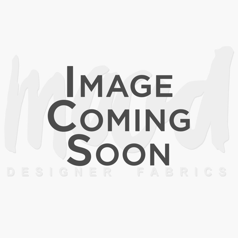 British Orange Circular Striped Cotton Canvas - Folded