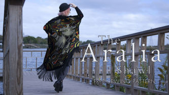 Related Mood Sewciety Post - The Aralia Shawl: Free Sewing Pattern