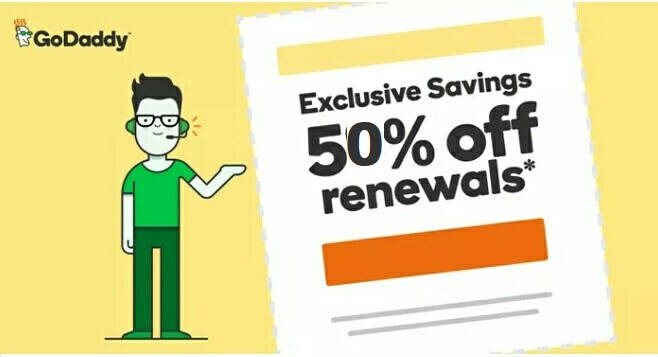 GoDaddy Renewal Coupon – Get 82% OFF On Domain Renewal (Special)