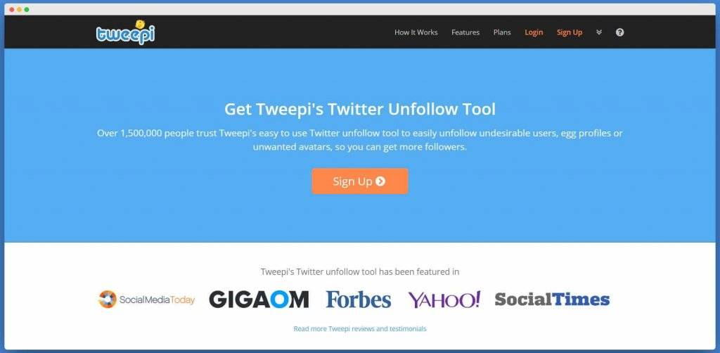 Tweepi, Twitter Unfollow Tool, Twitter Non-Followers