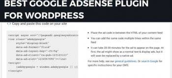 google adsense plugin, google ads plugin, adsense plugin for wordpress, wordpress plugin for adsense