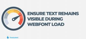 ensure text remains visible during webfont load error, how to fix ensure text remains visible during webfont load error