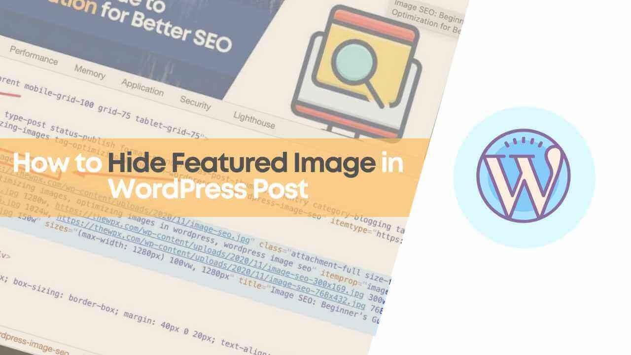 Hide Featured Image in WordPress