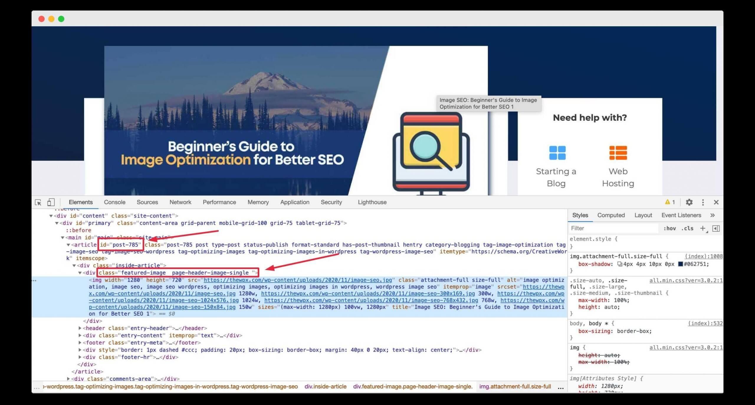 Hiding Featured Image Using Custom CSS