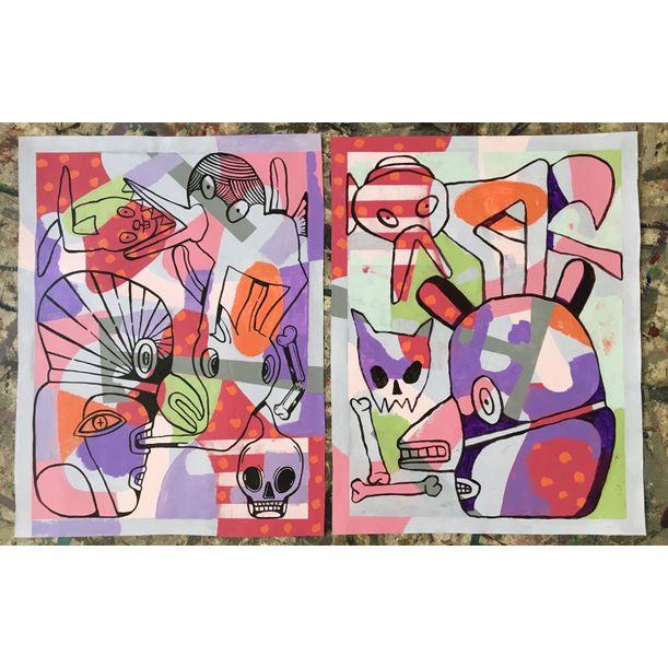 Lot 38: Doodling No. 1 and Doodling No. 2
