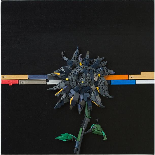 Van Gogh's battle field in the Sunflower by Lin Chun Pin
