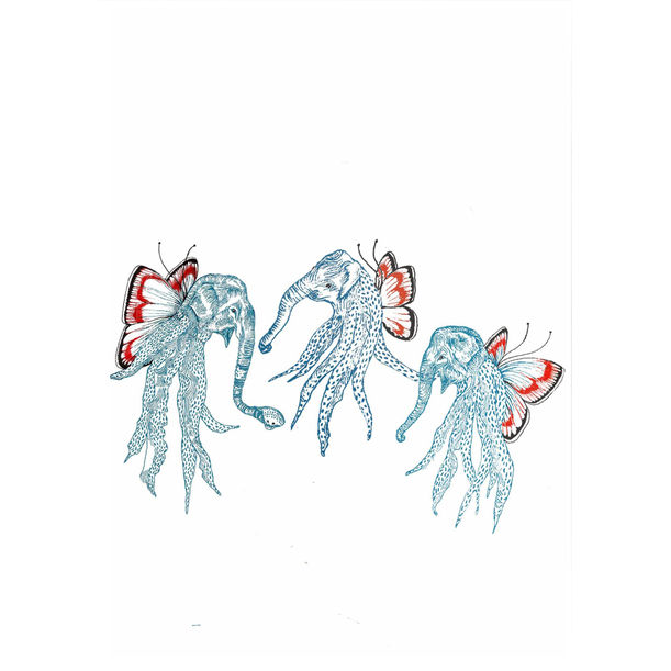 Elephant Octopii by Amelia Ilangaratne