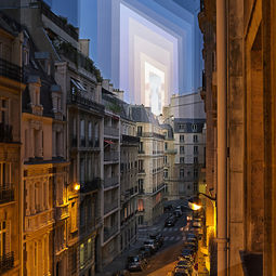 Sunset over Parisian Alley by Fong Qi Wei