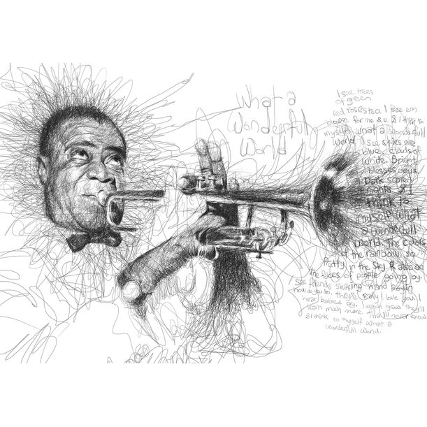Louis Armstrong by Vince Low
