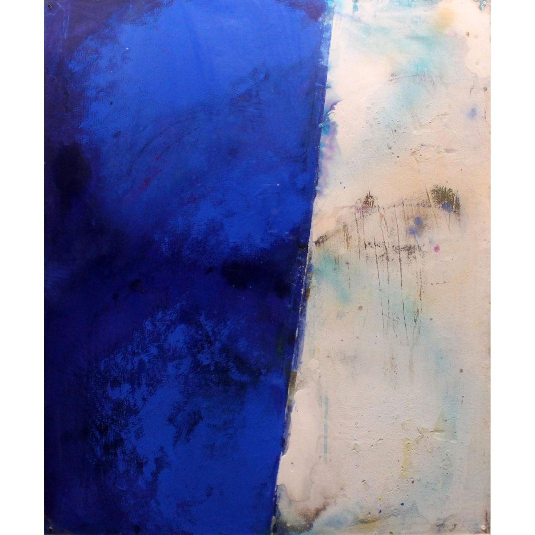 An Anonym (Blue & White) by Nobu Yamanaka