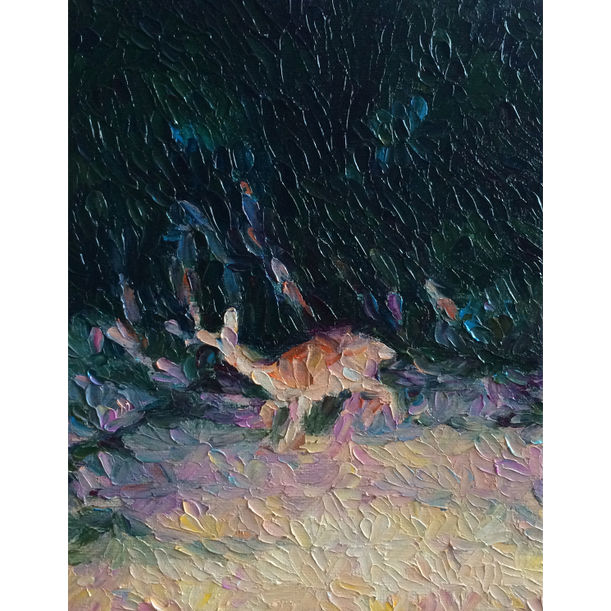 Running Deer 0958 1204 2014 by Nobuto Fukutsu
