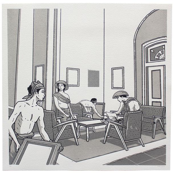 Soekarno Kehilangan Lukisan  (Soekarno Lost His Painting) #5 by Prihatmoko Moki