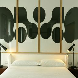 Black and White Bed Panel