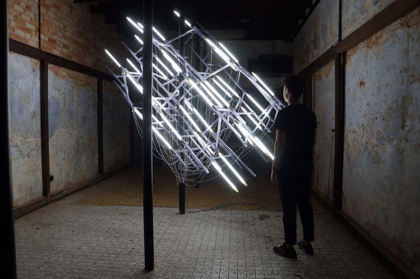 Making The Intangible Tangible Exploring Jun Ong S Light Art The Artling