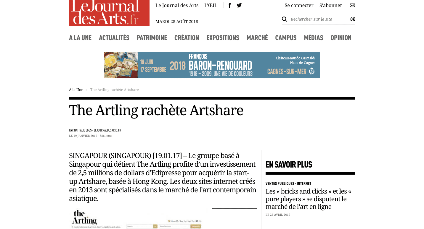 The Artling Buys Artshare