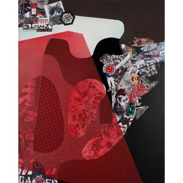 Red Curtain No. 3 by Ye Hongxing