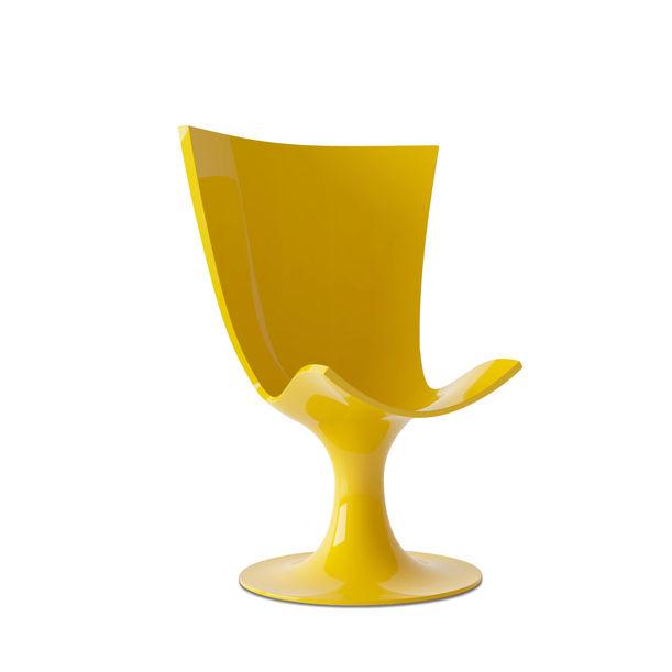 Santos Chair: Imposing Yellow Seat by Joel Escalona