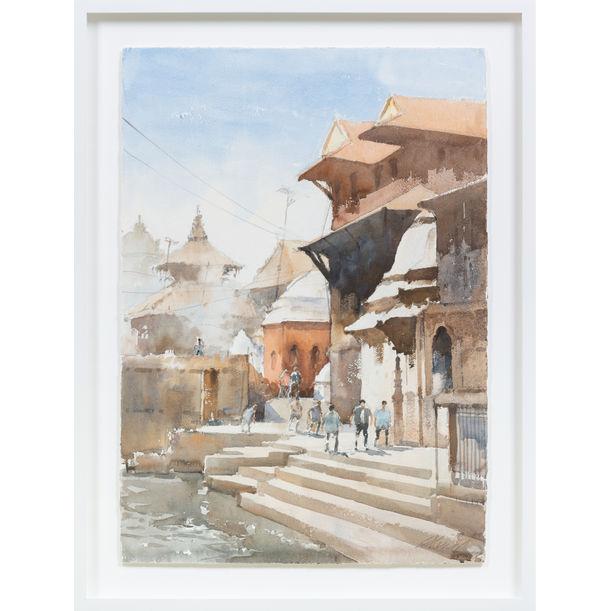 Waterside, Patan, Nepal by Ong Kim Seng