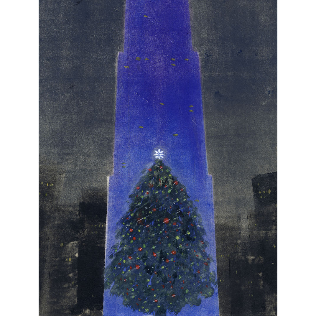 Rockefeller Center Christmas Tree by Yezi Lou