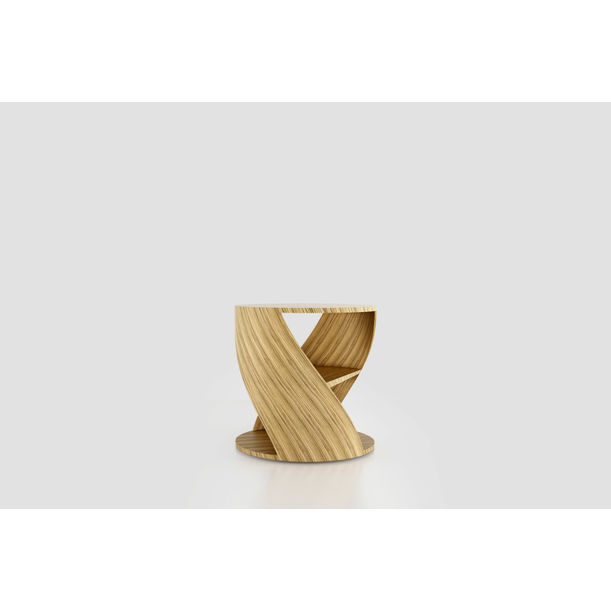 MYDNA Side Table: Zebrano Wood Decorative Nightstand by Joel Escalona