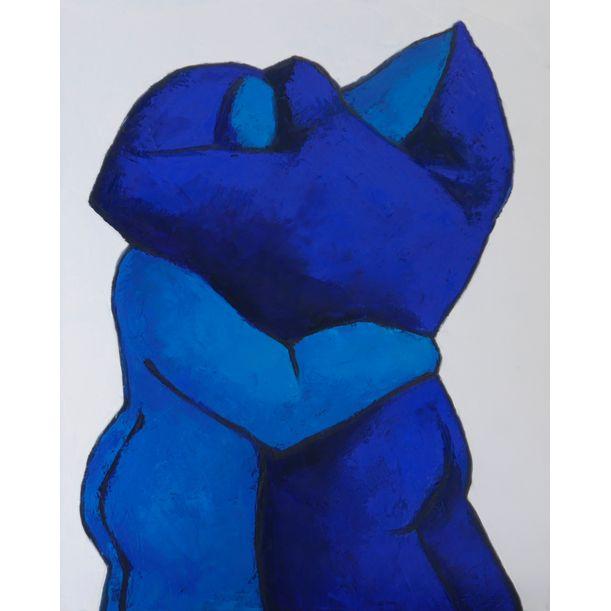 Lovers in blue dancing by Ta Thimkaeo