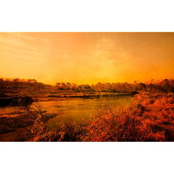 Sunset in Chitwan, Nepal by Viet Ha Tran