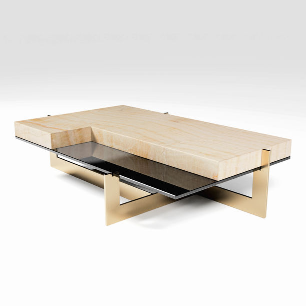 """The Ivory Coast"" Onyx Coffee Table by Grzegorz Majka"