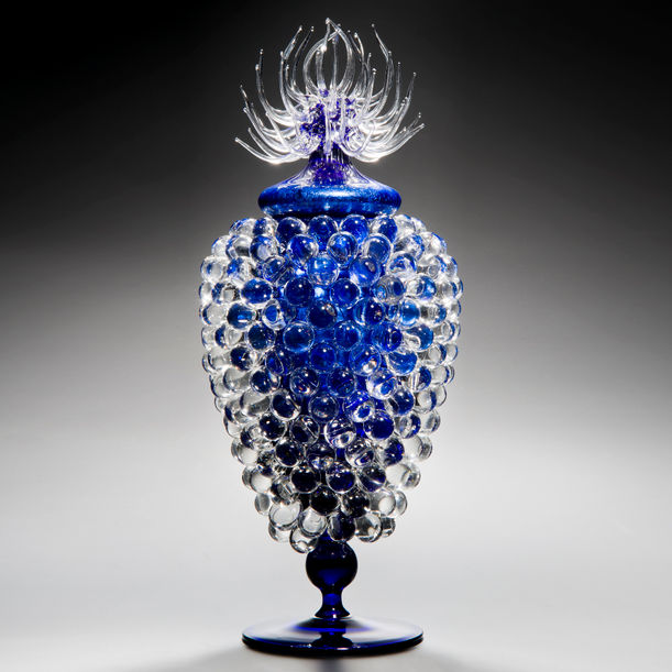 Empoli Jar with Thistle by James Lethbridge