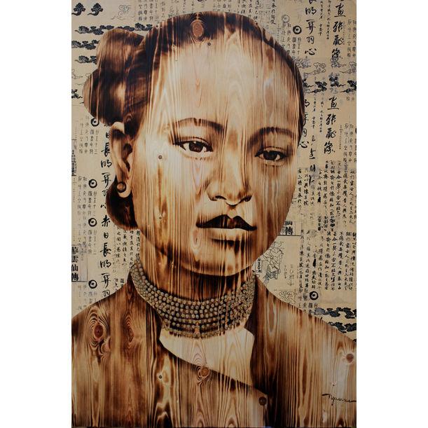 Hanoian Lady by Ngo Van Sac
