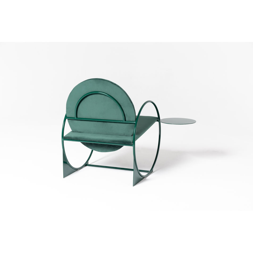 Green Bullarengue Lounge Chair by Angel Mombiedro