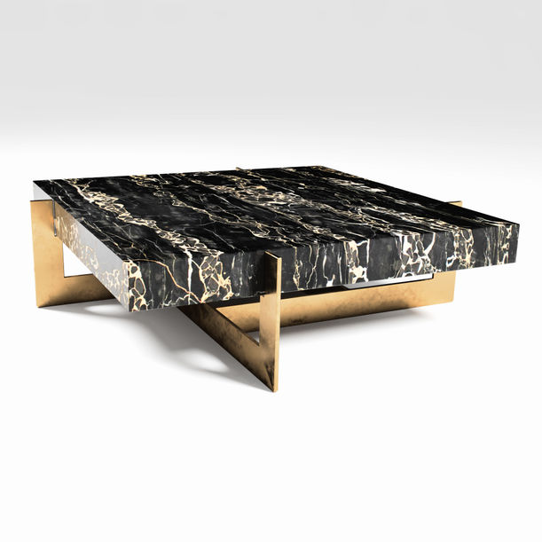 The Golden Rock - Marble Coffee Table by Grzegorz Majka