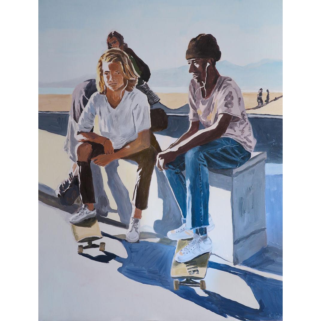 2 Skaters by Karine Bartoli