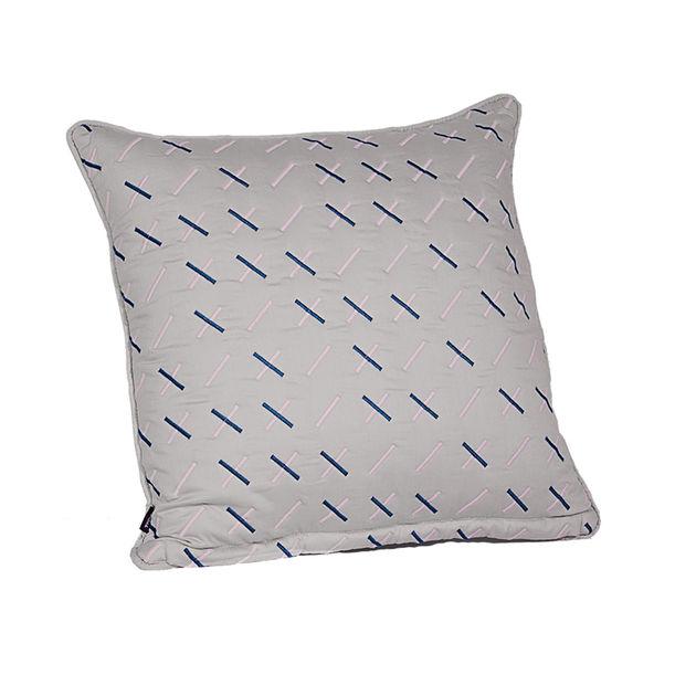 Modern Kantha Grey cushion by Tiipoi