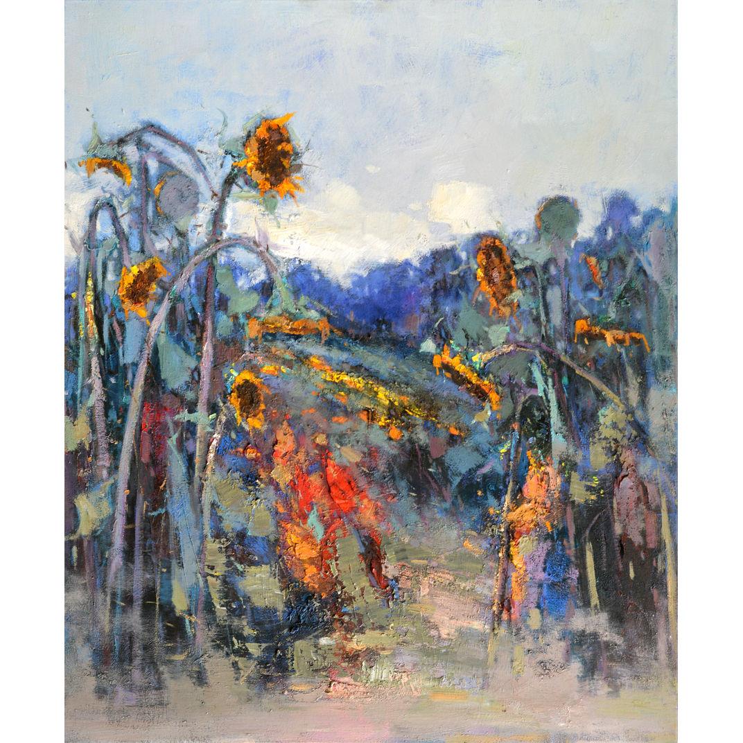 Properous sunflowers 514 by Jingshen you