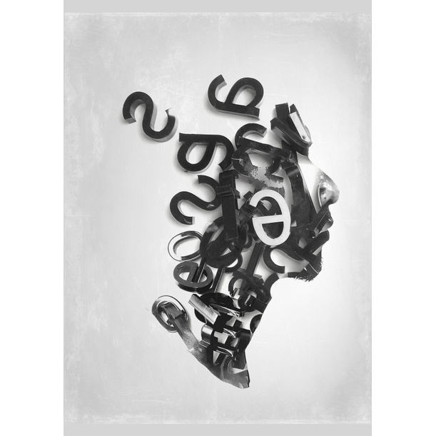 Letters 1 by Ade Santora