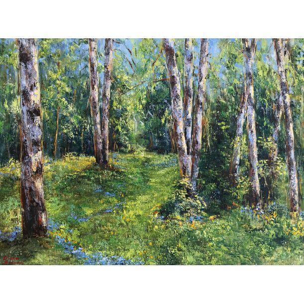 Birch Trees in the Sunshine by Diana Malivani