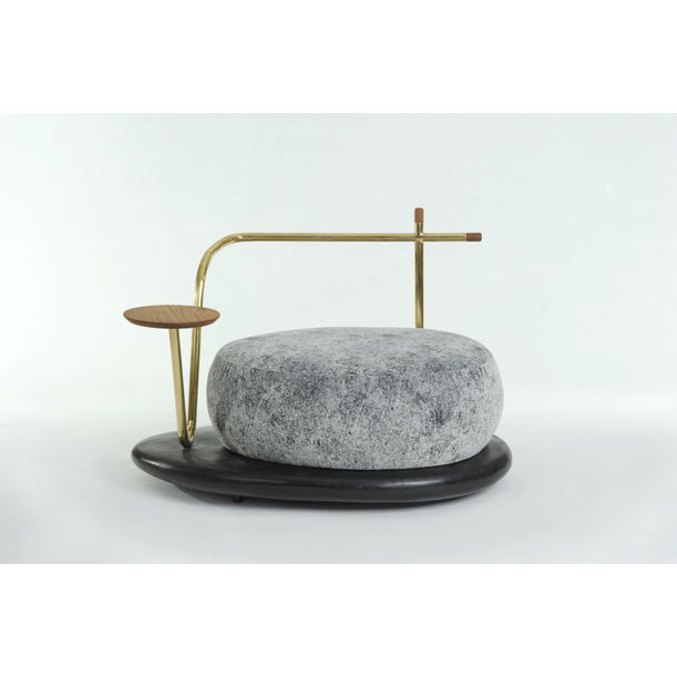 Zen Stone (Armchair with Side Table) by Apiwat Chitapanya