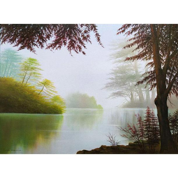 Misty Lake by Richard Leung