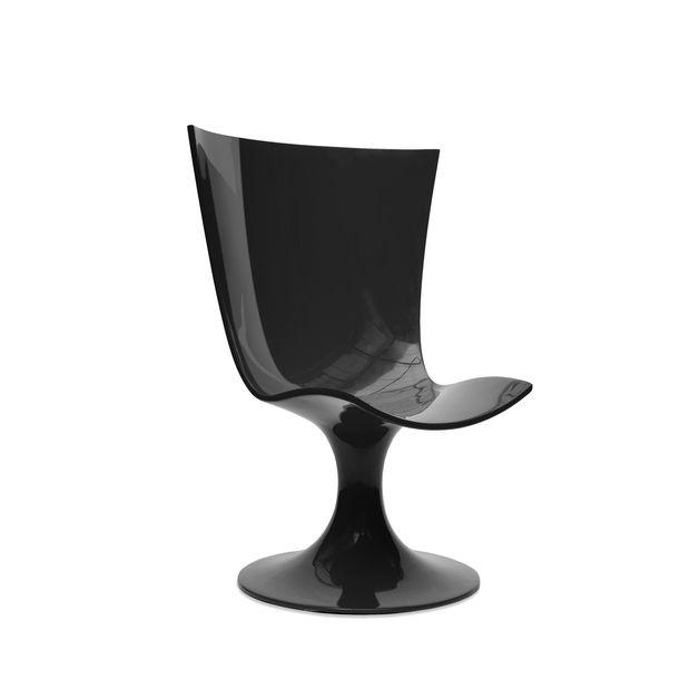 Santos Chair: Imposing Black Seat by Joel Escalona