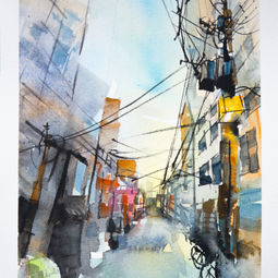 Japan's Aerial Cable Series #7 by Eugene Ch'ng (庄以仁)