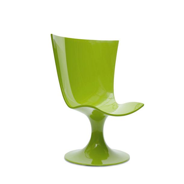 Santos Chair: Imposing Green Seat by Joel Escalona