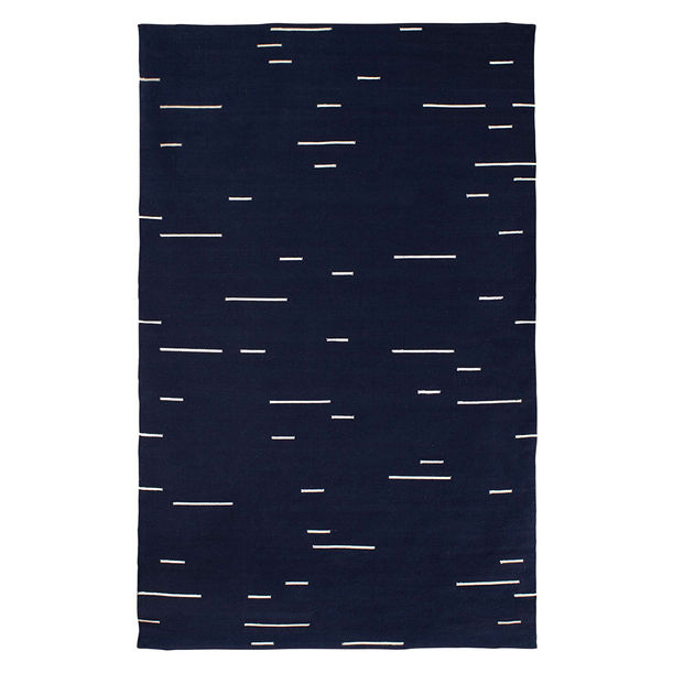 Jamakhan Line Rug - Navy Blue by Tiipoi