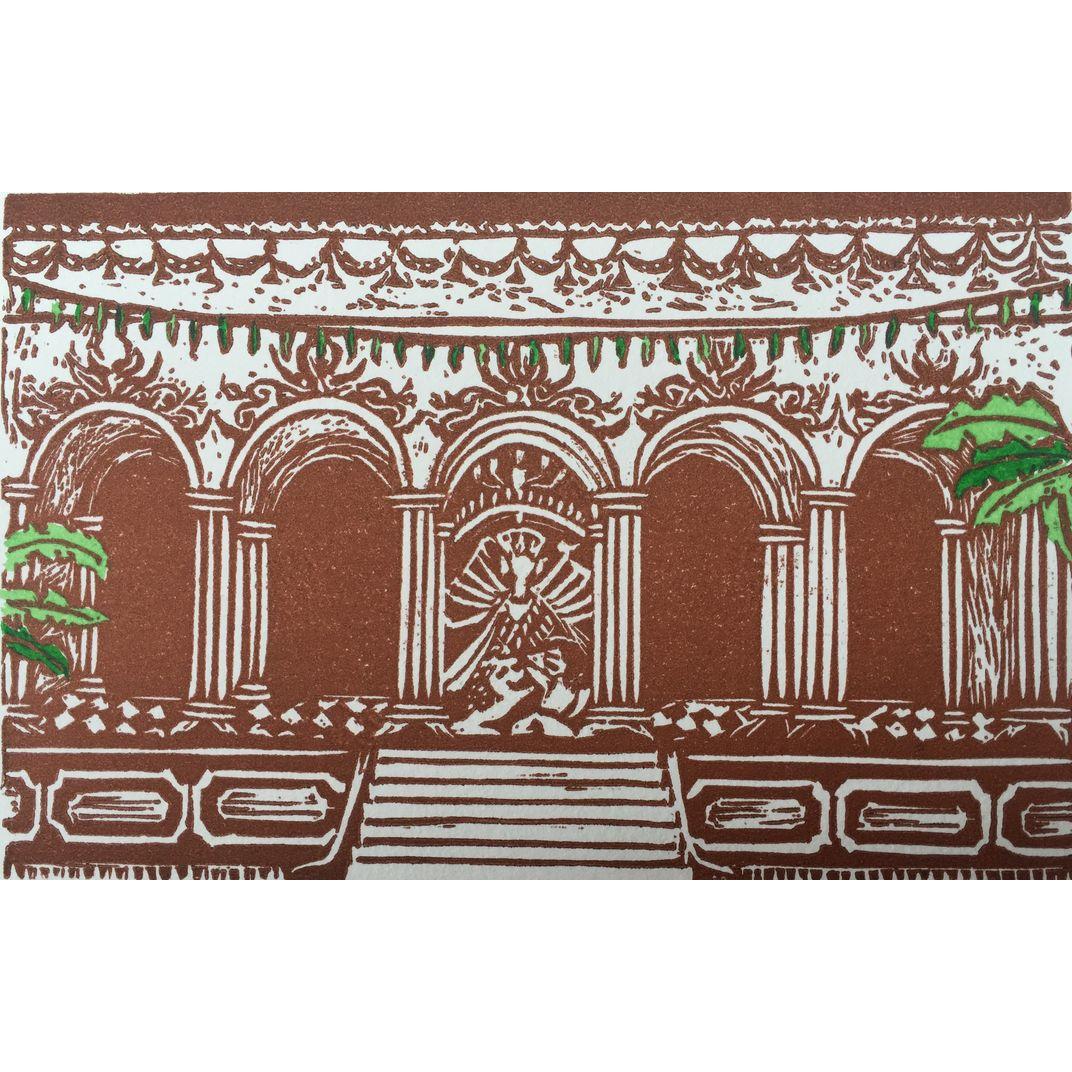 Swamiji's Thakur Dalan (sepia) by Amrita Saraogi